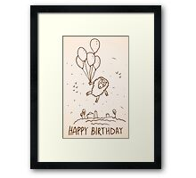 Funny sheep with balloons Framed Print