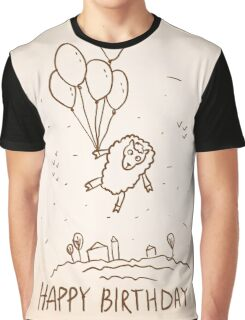 Funny sheep with balloons Graphic T-Shirt