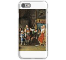 Jean-François Garneray - The visit of the Grand Dauphins in the company of the Duc de Montausier in a cabin iPhone Case/Skin