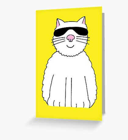 You are my sunshine fun cat in shades. Greeting Card