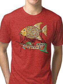 Fish Airship Tri-blend T-Shirt