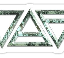FOUR ELEMENTS PLUS ONE H  - on the rocks - light blue/grey Sticker