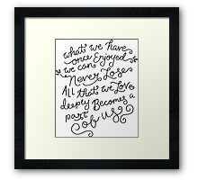 Helen Keller Quote Framed Print