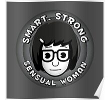 Smart Strong Sensual Woman Poster