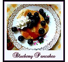 Blueberry Pancakes Photographic Print