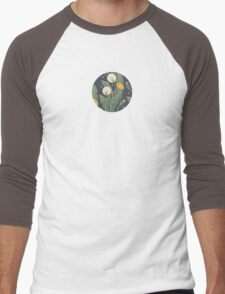dandelion seamless pattern Men's Baseball ¾ T-Shirt