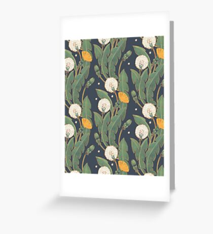 dandelion seamless pattern Greeting Card