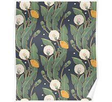 dandelion seamless pattern Poster