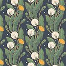 dandelion seamless pattern by Maria Khersonets