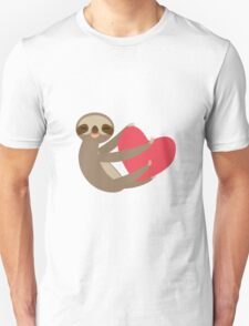 Sloth sitting with a heart Unisex T-Shirt