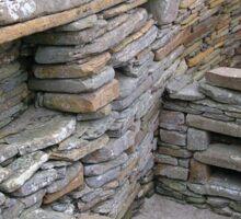 Interior of Neolithic house, Skara Brae Sticker