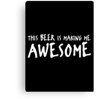 beer awesome Canvas Print