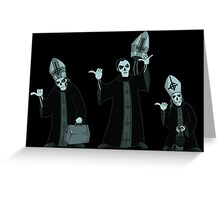 beware of hitchhiking ghosts Greeting Card