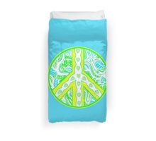 Circle of Peace Tangle With Colours Var 6 Duvet Cover