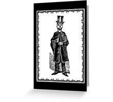 Skeleton Groom (Border) Greeting Card