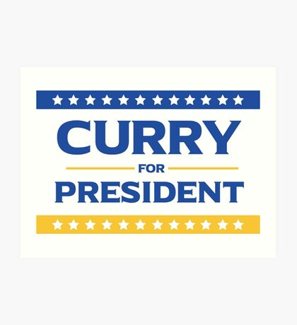 Curry for President Art Print