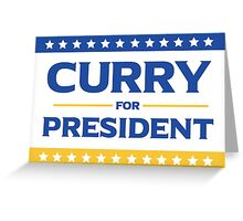 Curry for President Greeting Card