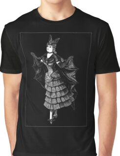 Victorian Bat Graphic T-Shirt