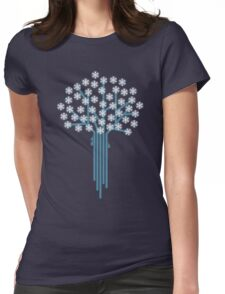 Winter tree Womens Fitted T-Shirt