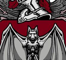 Bat Crest (Red) Sticker
