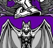 Bat Crest (Purple) Sticker