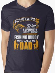 Dad fishing tshirt Mens V-Neck T-Shirt