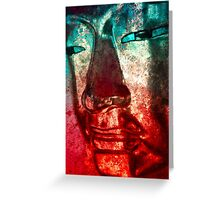 Buddha Face red Greeting Card