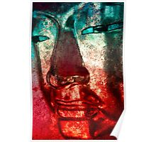 Buddha Face red Poster