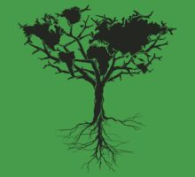 Earth tree *dark green edition Kids Tee