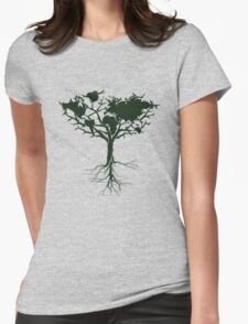 Earth tree *dark green edition Womens Fitted T-Shirt