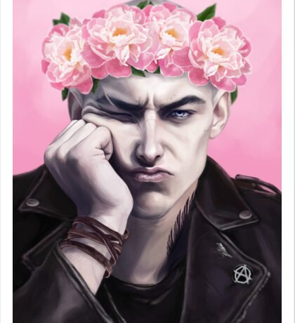 Flower crown Ronan Sticker