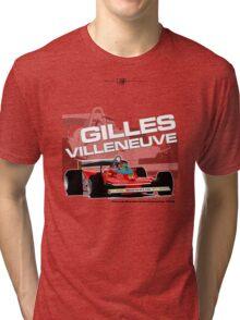 Gilles Villeneuve - F1 1979 Tri-blend T-Shirt