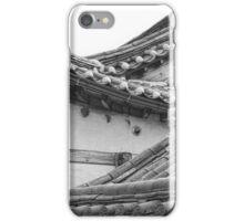 Architecture Of Bukchon Hanok Village BW iPhone Case/Skin