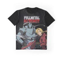 Edward Elric Alphonse Elric Fullmetal Alchemist Brotherhood Anime Graphic T-Shirt