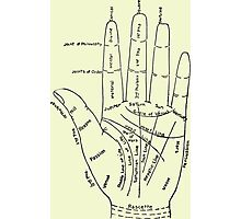 Chart of the Hand - fortune-telling Photographic Print
