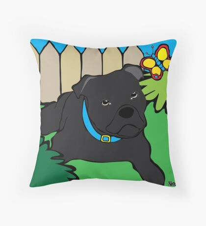 Staffy Throw Pillow