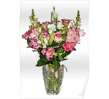 Flowers in a vase Poster