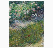 1887-Vincent van Gogh-Grass and butterflies One Piece - Short Sleeve
