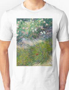 1887-Vincent van Gogh-Grass and butterflies Unisex T-Shirt