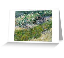 1887-Vincent van Gogh-Grass and butterflies Greeting Card