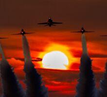 Red Arrows Sunset  Sticker