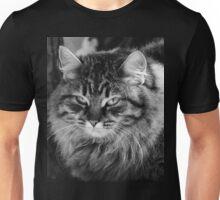 grumpy or annoyed b&w Unisex T-Shirt