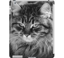 grumpy or annoyed b&w iPad Case/Skin