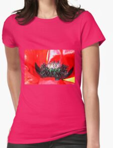 Red Poppy (2) Womens Fitted T-Shirt