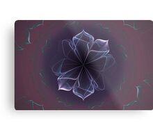 Amethyst Ornate Blossom in Soft Pink Metal Print
