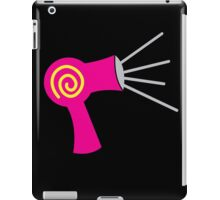 Hot pink Hairdryer stylist  iPad Case/Skin