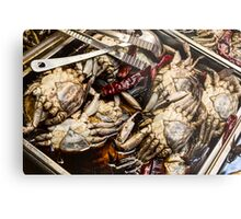 Fresh Crab At The Market Metal Print