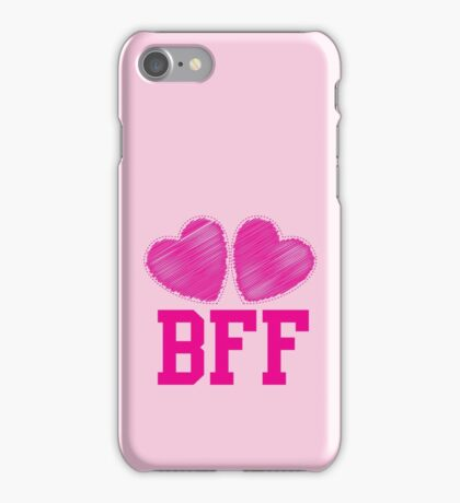 BFF with cute pink hearts Best Friends forever iPhone Case/Skin