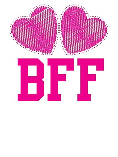 """""""BFF with cute pink hearts Best Friends forever ..."""