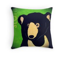Sloth Bear (Rustic) Throw Pillow